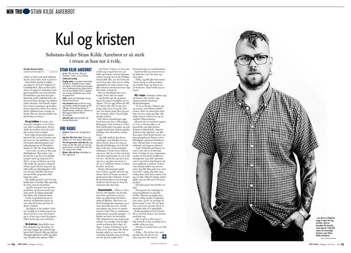Portrett av Stian Kilde Aarebrot. (Vårt Land) (Foto: Kristian Jacobsen)