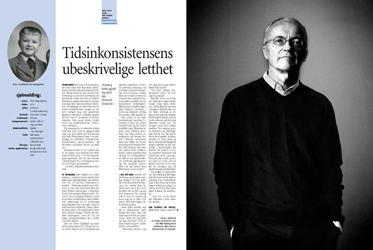 Finn E. Kydland, nobelprisvinner i økonomi 2004 (Pluss/Stavanger Aftenblad) (Foto: Kristian Jacobsen)