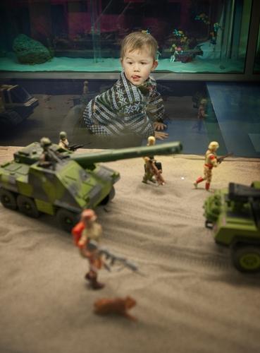Leketøyutstilling på barnemuseet. (Foto: Kristian Jacobsen)