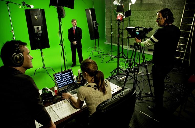 Mediafarm lager interaktivt rollespill for EU-parlamentet i Brüssel.  (Foto: Kristian Jacobsen)