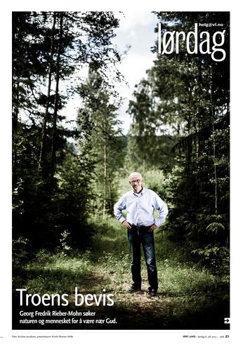 Portrett av Georg Fredrik Rieber-Mohn. (Vårt Land) (Foto: Kristian Jacobsen)