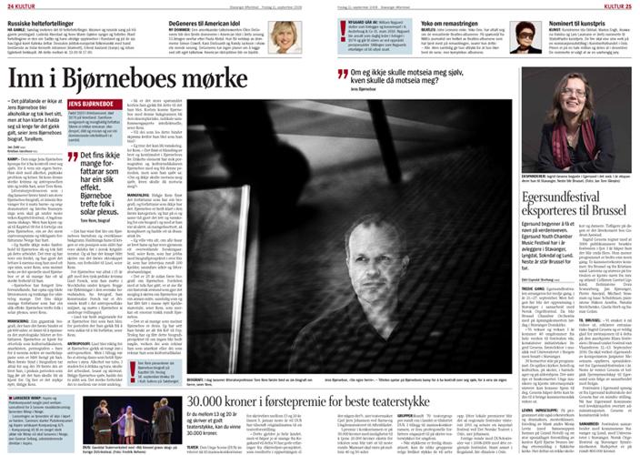 Tore Rem har skrevet biografi om Jens Bjørneboe (Stavanger Aftenblad) (Foto: Kristian Jacobsen)